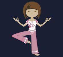 Yoga Girl Pattern Kids Tee