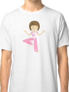 Yoga Girl Pattern Classic T-Shirt
