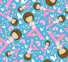 Yoga Girl Pattern by MurphyCreative