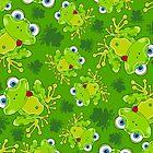 Cute Frog Pattern by MurphyCreative