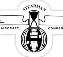 Stearman Aircraft Logo (Black) Sticker