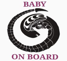 Alien chest burster - baby on board (pink) by hoofster