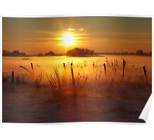 Frosty Winter Morning Poster