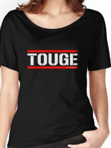 Touge Army White/Red Women's Relaxed Fit T-Shirt