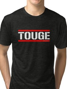 Touge Army White/Red Tri-blend T-Shirt