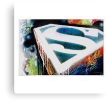 Superman Graffiti Canvas Print