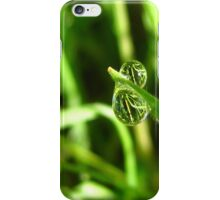 Duality- Water Drops in Green Grass iPhone Case/Skin