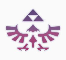 Pink & Purple Glowing Triforce of Hyrule by Leanore