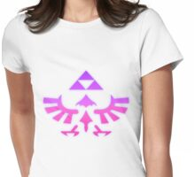 Pink & Purple Glowing Triforce of Hyrule Womens Fitted T-Shirt