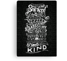 One of a kind (black) Canvas Print
