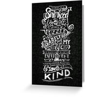 One of a kind (black) Greeting Card