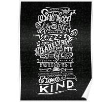 One of a kind (black) Poster