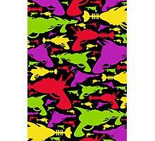 Retro Raygun Pattern Photographic Print