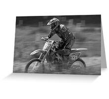 Dirt bike flat out Greeting Card
