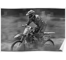 Dirt bike flat out Poster