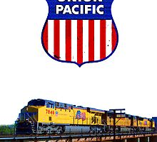 Union Pacific Railroad Train & Logo by jerry2011