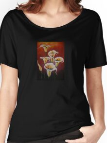 White Calla Lilies Women's Relaxed Fit T-Shirt