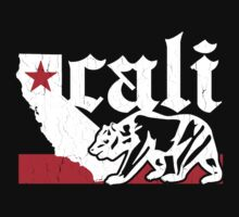 Vintage California Bear Flag (distressed) Kids Tee