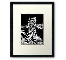 Moonman Framed Print