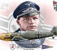 Hauptmann Helmut Wick by A. Hermann