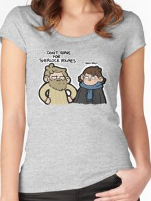 I Don't Shave for Sherlock Holmes Women's Fitted Scoop T-Shirt