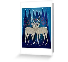 Deers Dreaming About Christmas Greeting Card