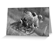 Dirt bikes racing Greeting Card