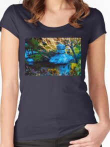 Japanese Painted Garden Women's Fitted Scoop T-Shirt