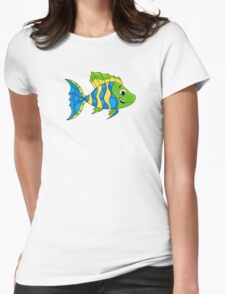 Tropical Fish Pattern Womens Fitted T-Shirt