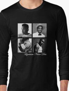 Lyricism Never Dies in Darker Colors Long Sleeve T-Shirt
