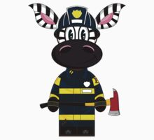 Zebra Fireman Pattern Kids Clothes
