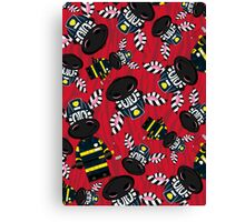 Zebra Fireman Pattern Canvas Print