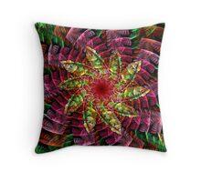 Jungle Flower Throw Pillow