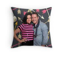 Outlaw Queen (Lana Parrilla & Sean Maguire) Throw Pillow