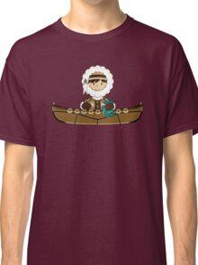 Cute Little Inuit Fisherman in Kayak Classic T-Shirt
