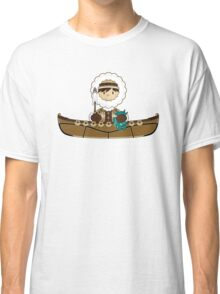 Cute Little Inuit Fisherman in Kayak Classic T-Shirt