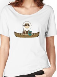 Cute Little Inuit Fisherman in Kayak Women's Relaxed Fit T-Shirt