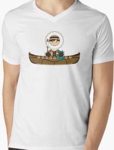Cute Little Inuit Fisherman in Kayak Mens V-Neck T-Shirt