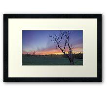 New Years Eve Sunset  Framed Print