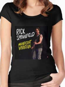 Rick springfield magnificent vibration Women's Fitted Scoop T-Shirt