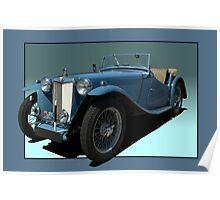 1946 MG TC Roadster Poster