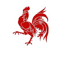 Wallonia Rooster Sigil Photographic Print