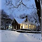 The Lights from the House on the Snow by TrendleEllwood