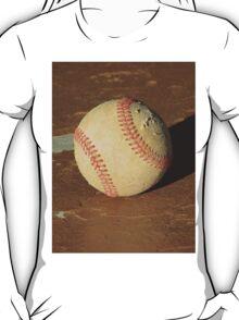 Scuffed Baseball on a Scuffed Picnic Table T-Shirt