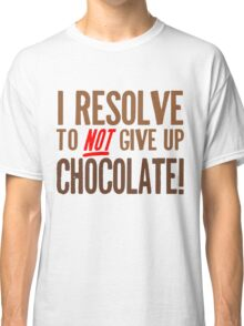 Chocolate Resolution Classic T-Shirt