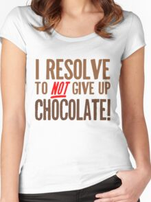 Chocolate Resolution Women's Fitted Scoop T-Shirt