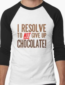 Chocolate Resolution Men's Baseball ¾ T-Shirt