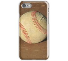 Scuffed Baseball on a Scuffed Picnic Table iPhone Case/Skin