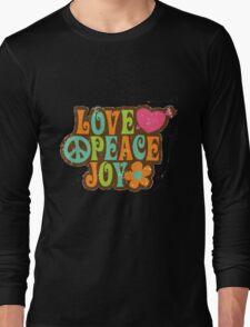 1970s Vintage Retro Style Love Peace Joy T-Shirt T-Shirt