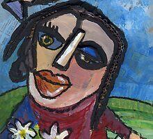 Marguerite - Daisy (card) by Julie  Savard